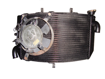 Motorcycle Radiator After